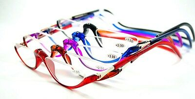 Half Rimless Magnetic Folding Readers Reading Glasses +1.00 ~+3.00 Neck Hang