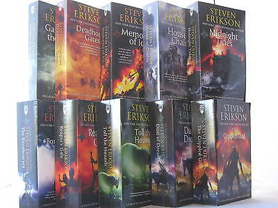 Malazan Book of the Fallen #1-10: Books by Steven Erikson (Complete Series Set)