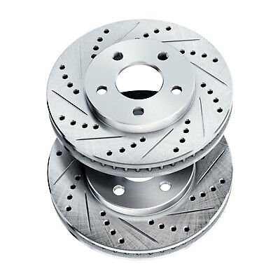 Brake Rotors [2 Front] POWERSPORT *DRILLED & SLOTTED* DISC BJ01919