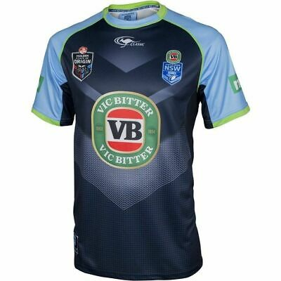 NSW Blues Origin 2016 Navy Training Shirt 'Select Size' S-5XL NRL State of