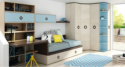 premium jugendzimmer inkl xxl eckkleiderschrank kojenbett. Black Bedroom Furniture Sets. Home Design Ideas