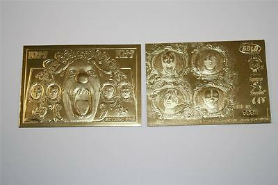 KISS PSYCHO CIRCUS Album Cover Sculpted 23KT Gold Card Gene Simmons NM-MT *BOGO*