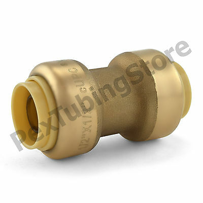 "(10) 1/2"" Sharkbite Style (Push-Fit) Lead-Free Brass Couplings Fittings"