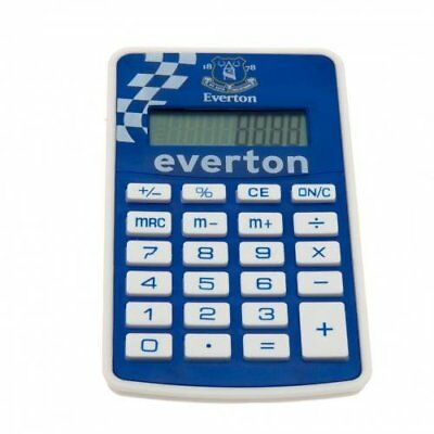 Everton FC Football Club Blue Badge Pocket Calculator Chequered Flag Official