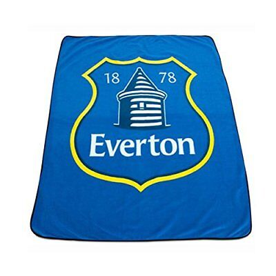 Everton FC Football Club Blue Crest Badge Soft Travel Fleece Blanket Official