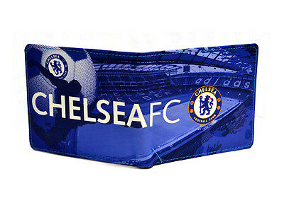 Chelsea FC Football Club Stamford Bridge Stadium Design Leather Wallet Official