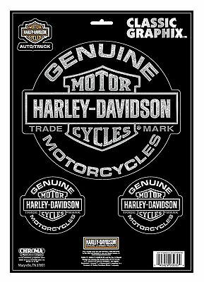 "Original Harley-Davidson Decal  ""TRADEMARK GENUINE"" groß Aufkleber *CG-33201*"