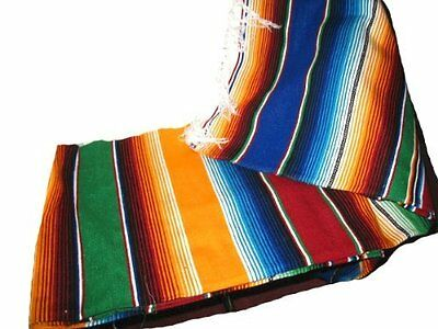 Large Authentic Mexican Blankets Colorful Serape Blankets Assorted, New, Free Sh