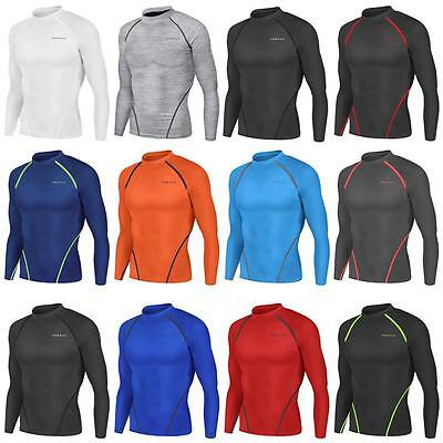 New Mens Compression Long Sleeves Workout Base Layers Rugby Skins Fitness Take 5