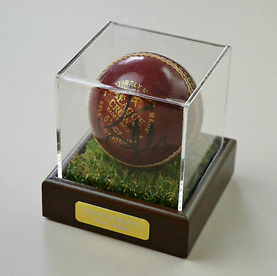 Peter Siddle Signed Cricket Ball Australia Autograph Display Case Memorabilia