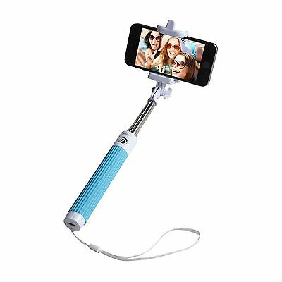 Groov-e Blue Monopod Selfie Stick Bluetooth Wireless Remote Mobile Phone Holder