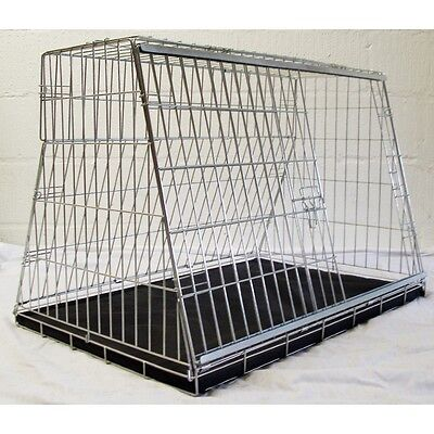 "Pet world 34"" CAR BOOT CAGE SLOPING TRAVEL PUPPY HACHBACK ESTATE SAFETY"
