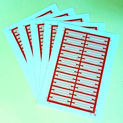 """Jukebox Title Cards For All 7"""" Vinyl Record Playing Models - Red"""