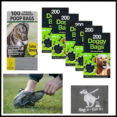 Poop Bags Dogs Poo Disposal Disposable  Fragrance Bag Pet Waste Scented Garbage