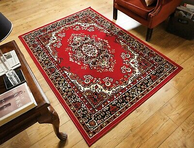 Element Lancaster Traditional Classic Persian Design Red Rug in 6 sizes Carpet