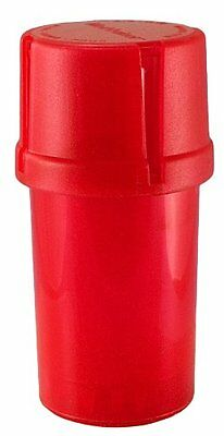 MedTainer Storage Container w/ Built-In Grinder - Red, New, Free Shipping