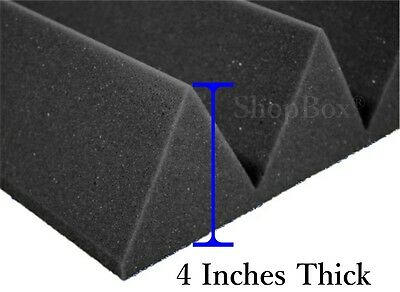 12 Pack(12x12x4)Inch Wedge Acoustic Foam Panel Soundproofing Studio Wall/Ceiling