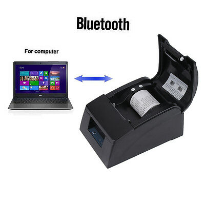 58mm Bluetooth 4.0 Wireless Receipt POS Thermal Printer For ios&Android BLACK