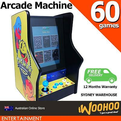 "60 in 1 Arcade Machine Upright Kids Size 15"" Inch Screen 80s 90s Game Console"