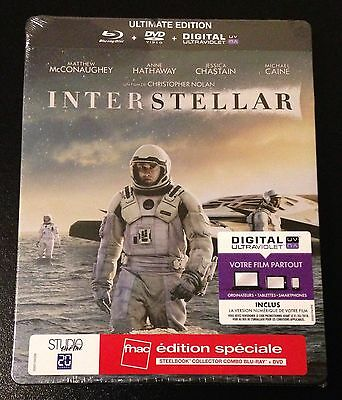 INTERSTELLAR Blu-Ray SteelBook Ultimate FNAC Exclusive Special Ed. New OOP Rare!