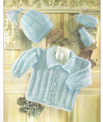 JACKET HAT AND mittens dk knitting pattern 99p - £0.99 ...