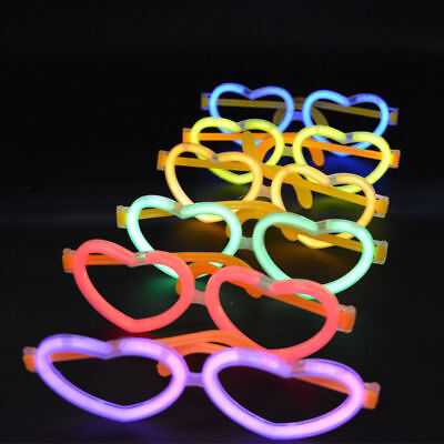 Heart Glow Stick Glasses Neon Rave Hen Stag Party Birthday Funny 90S Fancy Dress