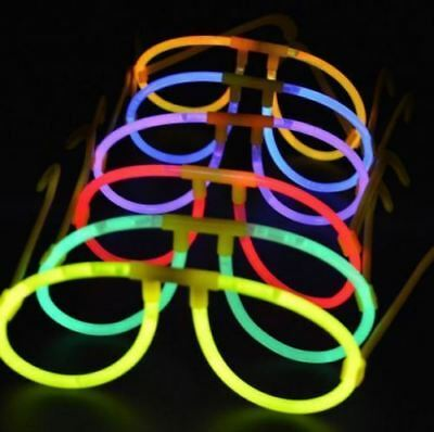 Round Glow Stick Glasses Neon Rave Hen Stag Party Birthday Funny 90S Fancy Dress
