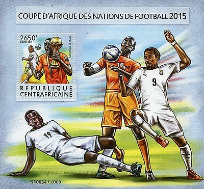 Central African Republic 2015 MNH African Cup of Nations 1v S/S Football Soccer