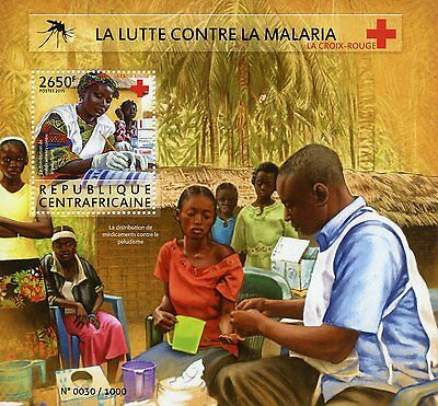 Central African Republic 2015 MNH Fight Against Malaria 1v S/S Medical Red Cross