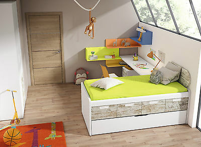 sch nes kinderzimmer jugendzimmer inkl kojenbett kleiderschrank schreibtisch eur. Black Bedroom Furniture Sets. Home Design Ideas