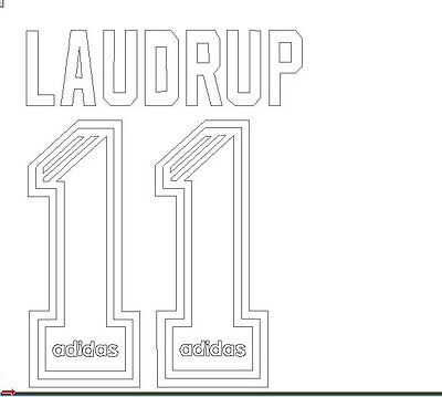 Rangers 1995-1996 Home Laudrup Football Name set for National shirt