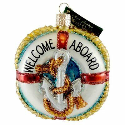 Old World Christmas Life Preserver Ornament, New, Free Shipping
