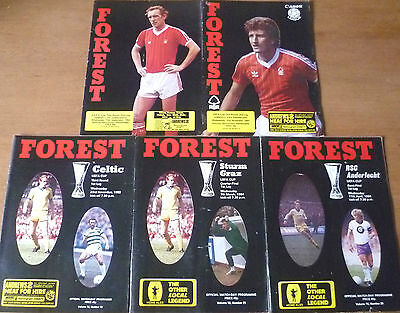 5x Nottingham Forest, 1983/84 - UEFA Cup Home Programmes.