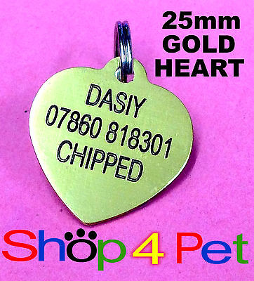 Pet ID Tag 25mm Aluminium Dog / Cat  Tags Engraved Free with Blackened Engraving