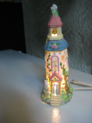 Cottontale cottages Lighted hand painted church in original box