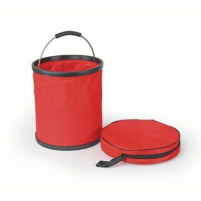 Shires Collapsible Feed Water Bucket 1451 Red One Size Waterproof Fabric New