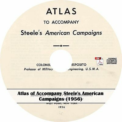 1956 Atlas to Accompany Steele's American Campaigns - Maps Military History CD