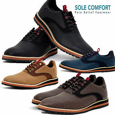 New Mens Smart Office Wedding Shoes Italian Dress Work Casual Coloured Sole Size