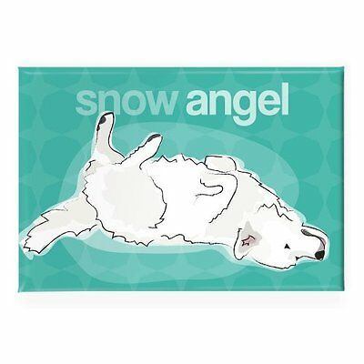 Pop Doggie Snow Angel Great Pyrenees Fridge Magnet, New, Free Shipping