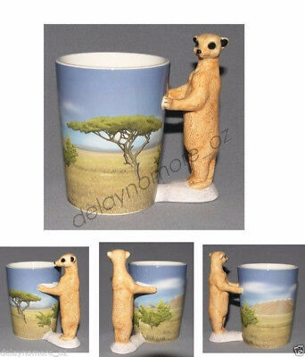 13cm Standing Meerkat Handle Mug Cup Birthday Mother's Day Gift Boxed Ceramic