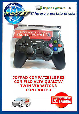 Controller Joypad Ps3 Pc Playstation 3 Compatibile Dual Shock Vibration Mini Usb