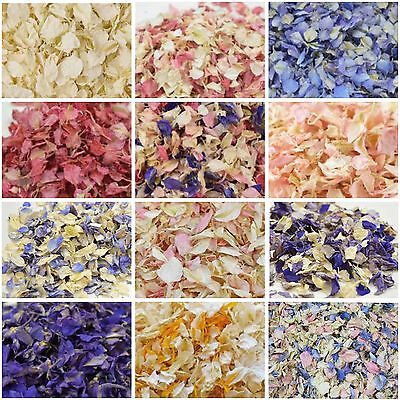 SALE Luxury Petal WEDDING CONFETTI Natural Biodegradable Delphinium Dried Petals