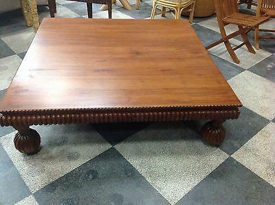 New hand carved Designer large castle coffee table