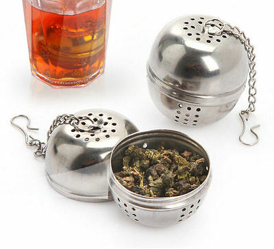 NEW Stainless Steel Ball Loose Tea Leaf Strainer Herbal Spice Filter Diffuser