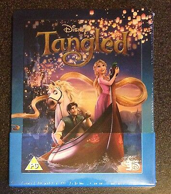 Disney TANGLED 3D Blu-Ray SteelBook Zavvi UK Exclusive Region Free New OOP Rare!