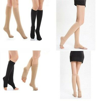 Medical Compression Socks Calf Support Knee High Stockings Open/Closed Toe S-XL