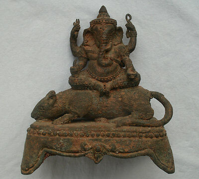 Old Ganesh on a Rat Statue