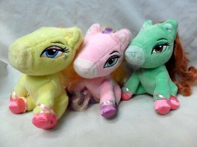 Plush 16cm Long Hair 3pcs Little Bratz Poney/Poneyz Horse Beauty Toy New
