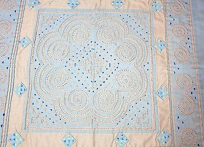 "Hmong Embroidery & Reverse Quilting Table-Topper - 20"" Square"