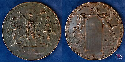 Exposition Universelle Internationale- Medaille 1878 Kupfer Hochrelief 300g 86mm